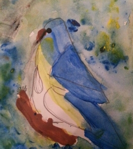 Watercolor Blue Bird